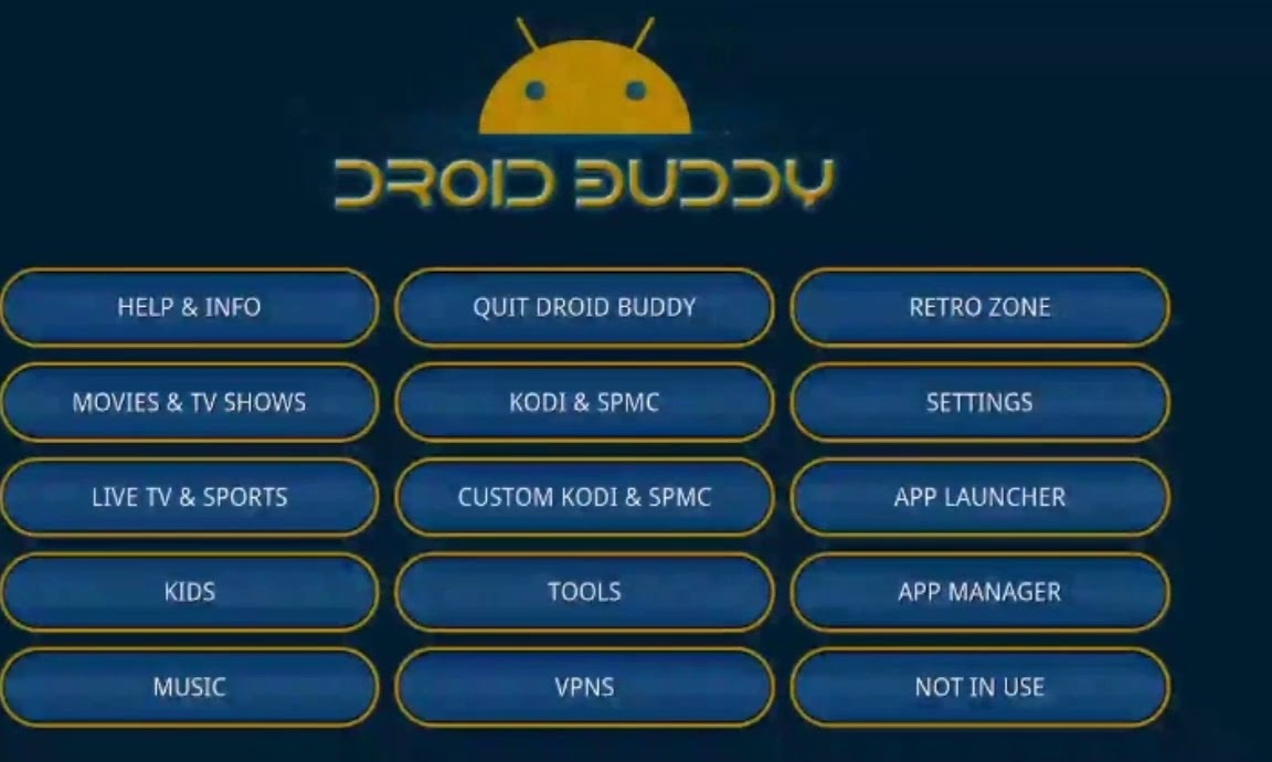 Droid Buddy 2 APK Download for Android and Amazon Fire Stick TV