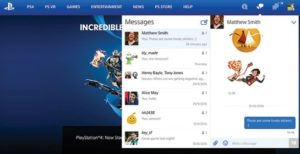 playstation messages pc